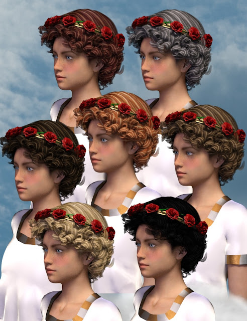 Valentina Hair for Genesis 3 Female
