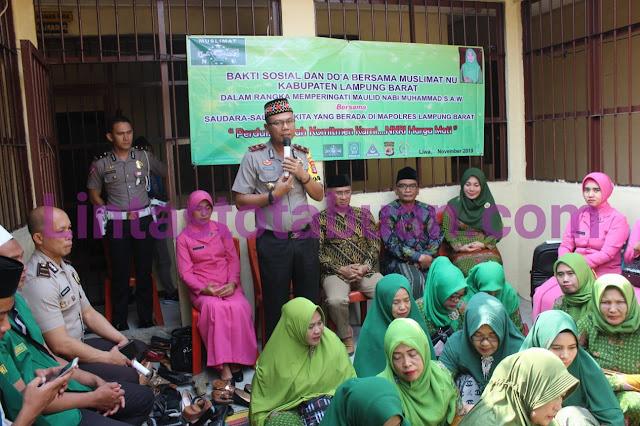 Pelaksanaan Maulid Nabi Muhammad SAW Waka Polres Lambar Terima Kunjungan Ketua MUI Lambar