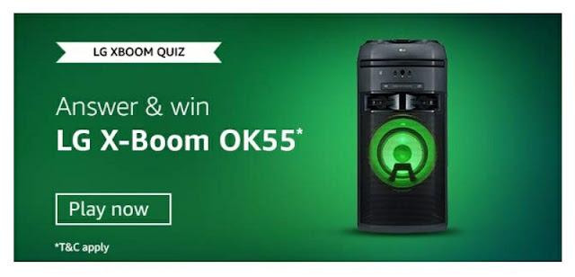 LG X Boom Quiz answer and win LG X Boom OK55