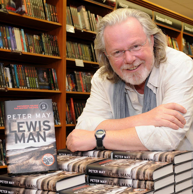 Peter May with his final installment in the Lewis trilogy