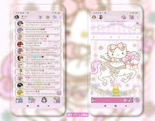 Kitty & Unicorn Theme For YOWhatsApp & GB WhatsApp By Luna