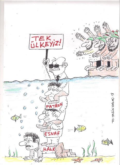 tek ülke karikatürü