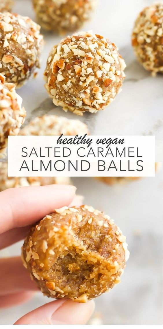 Vegan Salted Caramel Almond Balls