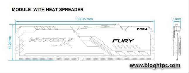 TAMAÑO HyperX FURY DDR4 RGB