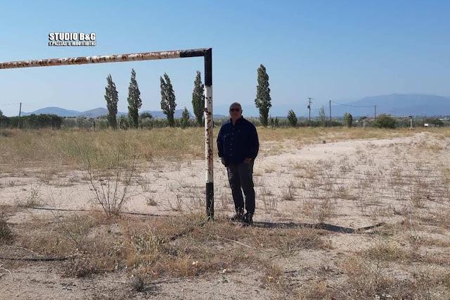 Με ταχύτητα αστραπής μετατρέπει τα χωράφια στην Αργολίδα σε γήπεδα ο Μαντζούνης