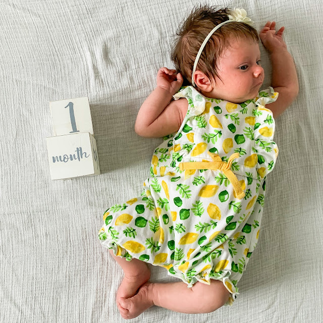 One month baby update