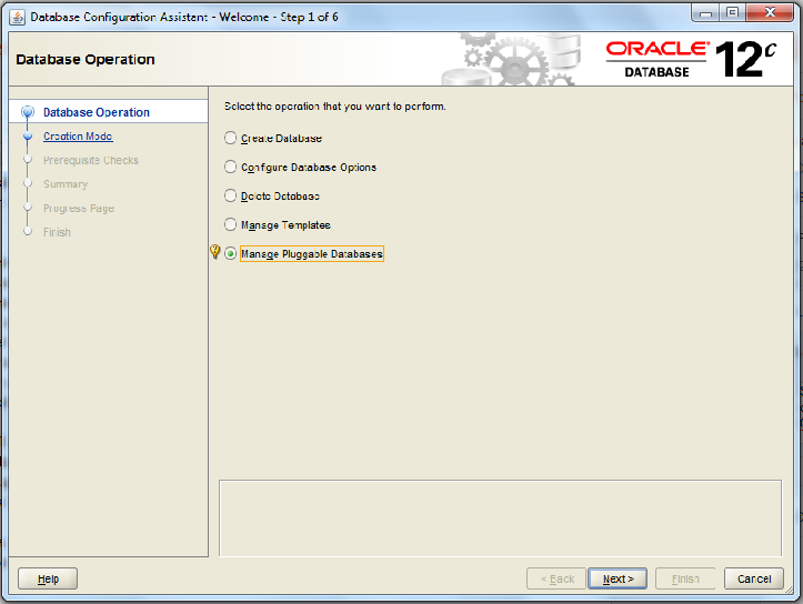 Oracle 12c create pluggable database example