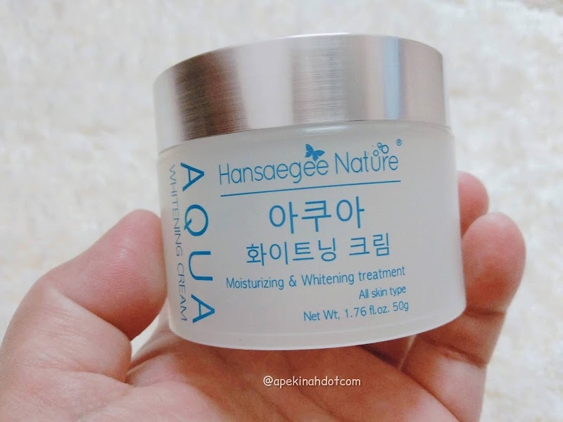 Kulit Muka Lebih Lembap dan Semakin Cerah Setelah Guna Aqua Whitening Cream Dari Hansaegee Nature