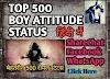 500 एटीट्यूड स्टेटस इन हिंदी-Best Top 500 Attitude Status For Facebook and Whatsapp