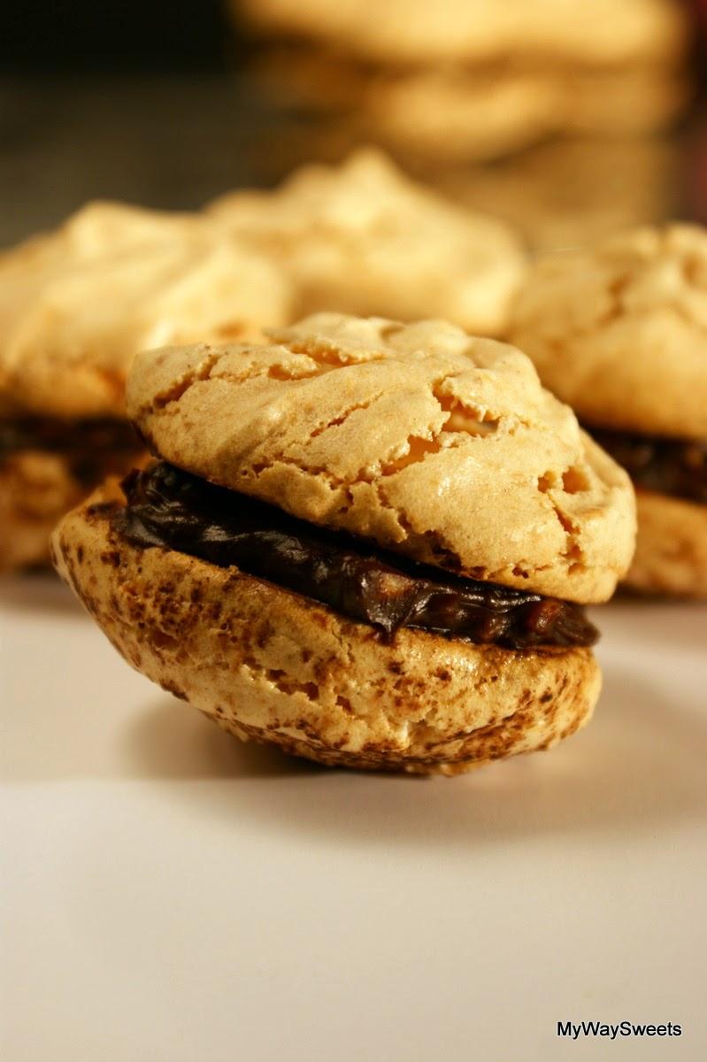 migdałowe ciasteczka bezowe