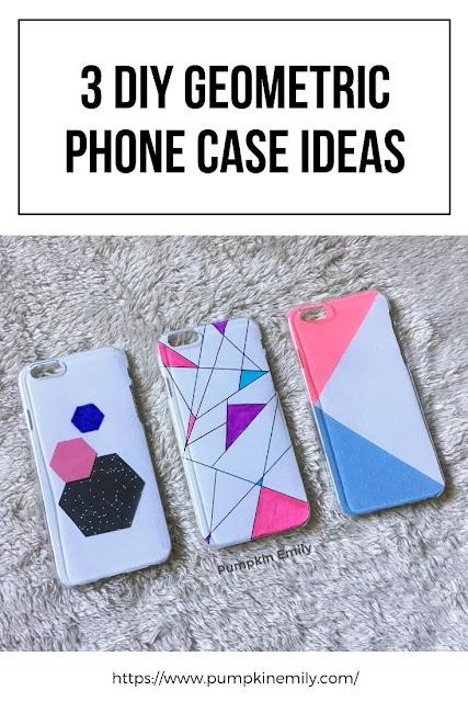 3 DIY Geometric Phone Cases