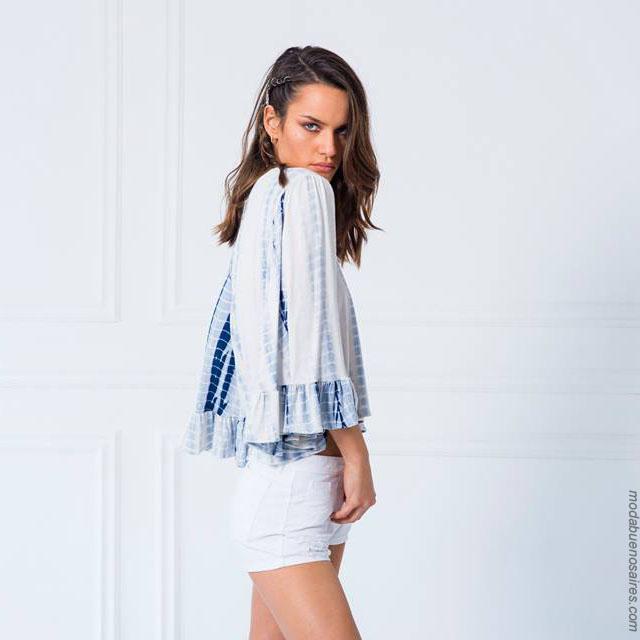 Moda 2018. Blusas de moda 2018 verano.