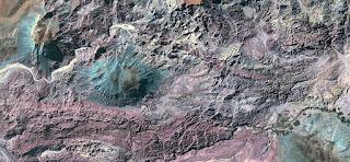 piedras, arena, montañas, rugosa, textura, fotografía aérea,