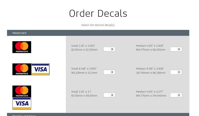 احصل على ملصقات فيزا Visa و ماستر كارد Mastercard مجانا تصلك الى بيتك + اثبات الوصول
