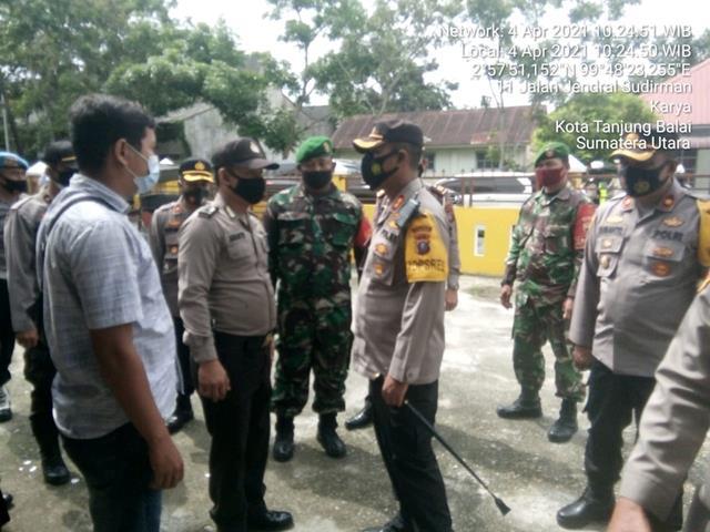 Kegiatan Patroli Keamanan Dilakukan Personel Jajaran Kodim 0208/Asahan Bersma Personel Polres Tanjung Balai