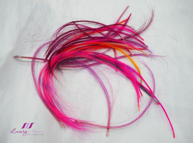 colourful fusion clip in hair extensions
