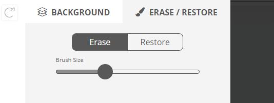 erase restore tools remove.bg