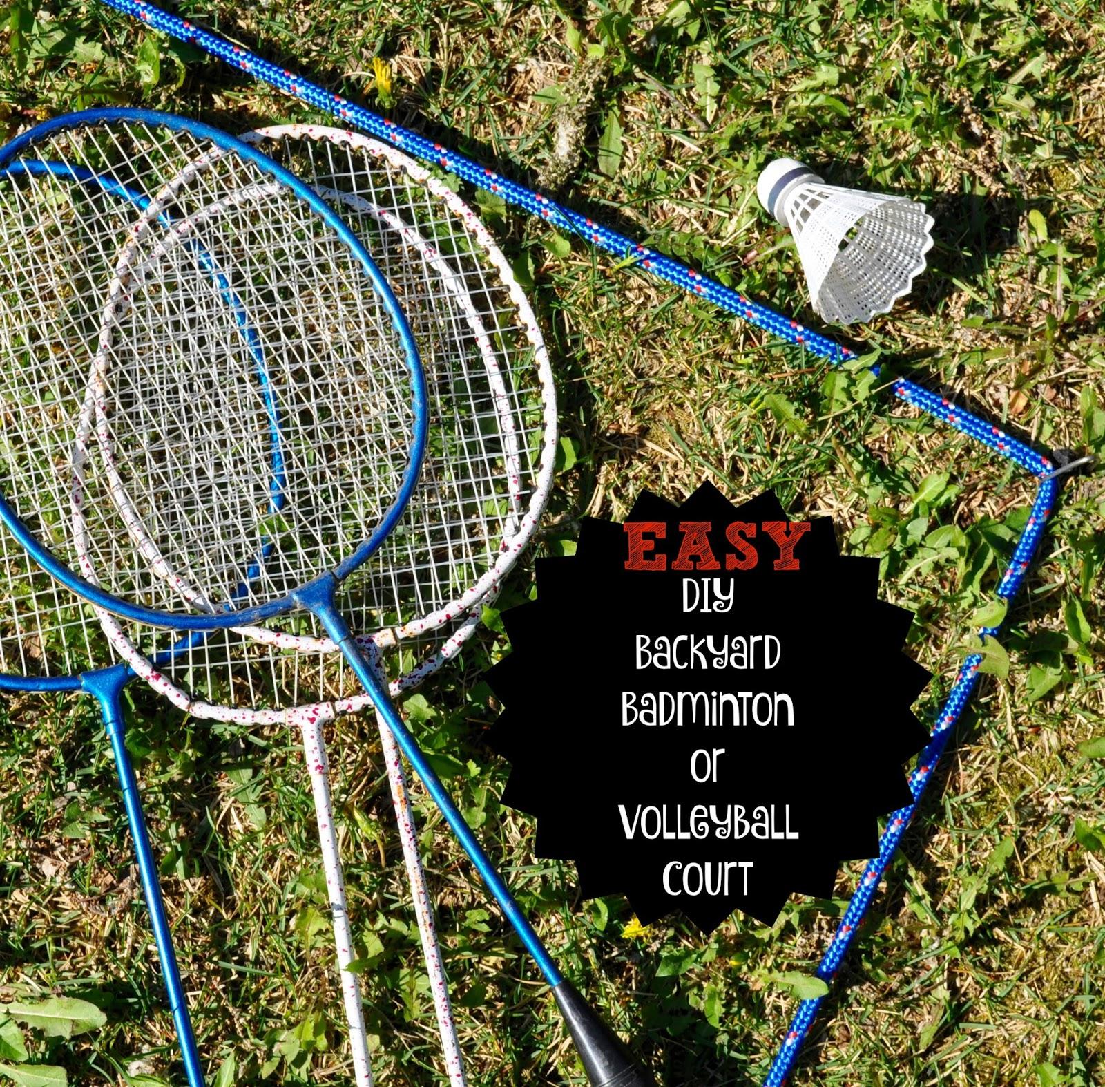 easy diy backyard badminton or volleyball court little house big