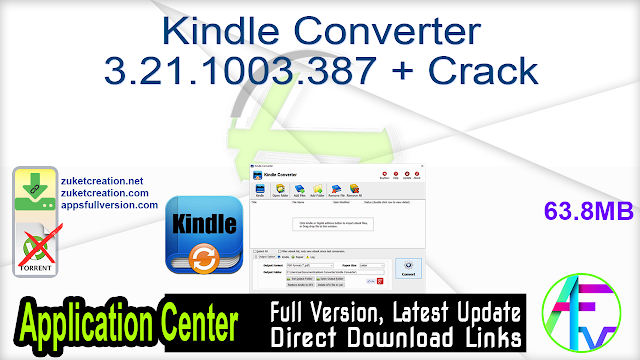 Kindle Converter 3.21.1003.387 + Crack