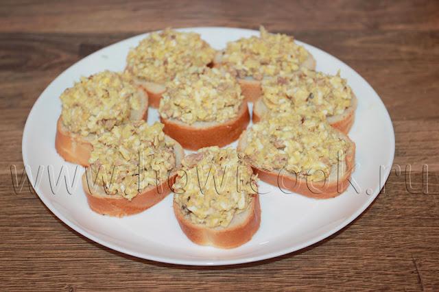 рецепт тартинок с печенью трески и грецкими орехами с пошаговыми фото