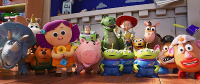 All of the Toy Story 4 tous, including Buzz, Trixie, Rex, Hamm, and Dolly, come alive in Pixar's latest installment of this beloved franchise