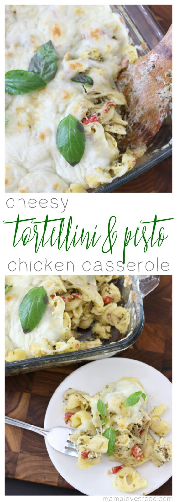 Cheesy Tortellini & Pesto Chicken Casserole Dinner Recipe