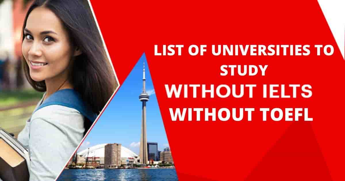 Study Abrought without IELTS/TOEFL