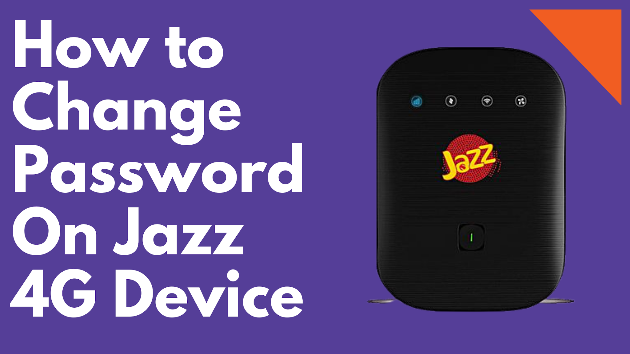 How to change password on jazz 4g device