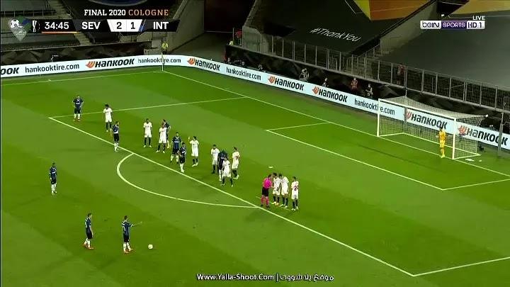 الشوط الأول لمباراة اشبيلية وانتر ميلان بتاريخ 2020-08-21 الدوري الأوروبي