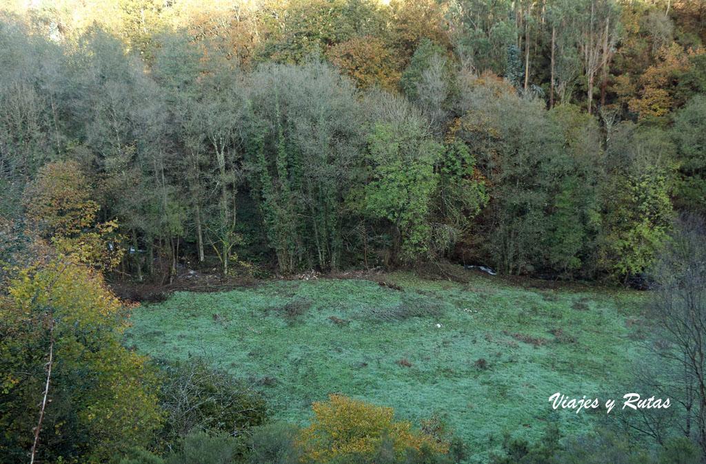 Paisaje hacia la Cascada del Nonaya, Asturias