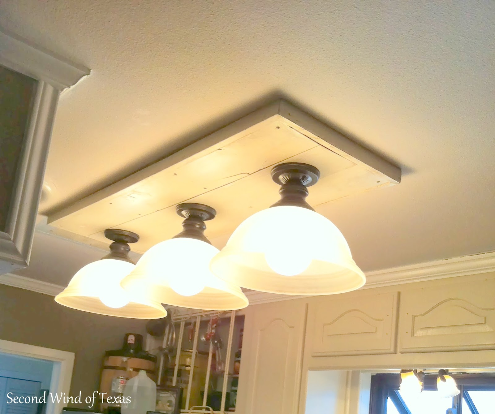 making lights to replace ugly fluorescent kitchen lighting