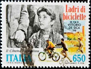 """Sello conmemorativo de """"El ladrón de bicicletas"""", de Vittorio de Sica"""
