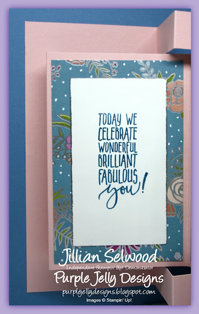 Today we celebrate wonderful brilliant fabulous you! Birthday card