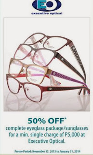 Metrobank Credit Card Promo: Executive Optical 50% OFF