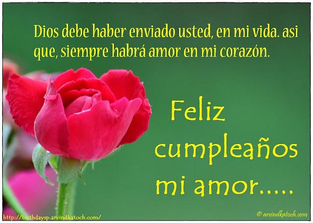 Tarjetas, Cumpleaños, Dios, haber, enviado, usted, vida,