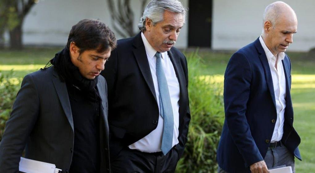 Fernández recibió a Kicillof y Larreta y anuncia hoy la continuidad del aislamiento social