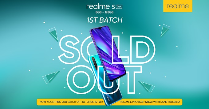 Realme 5 Pro 8GB+128GB Batch 1 Sold Out, Batch 2 Incoming