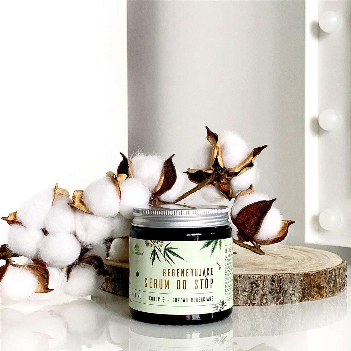 HempKing Regenerujące serum do stóp z CBD o zapachu drzewa herbacianego