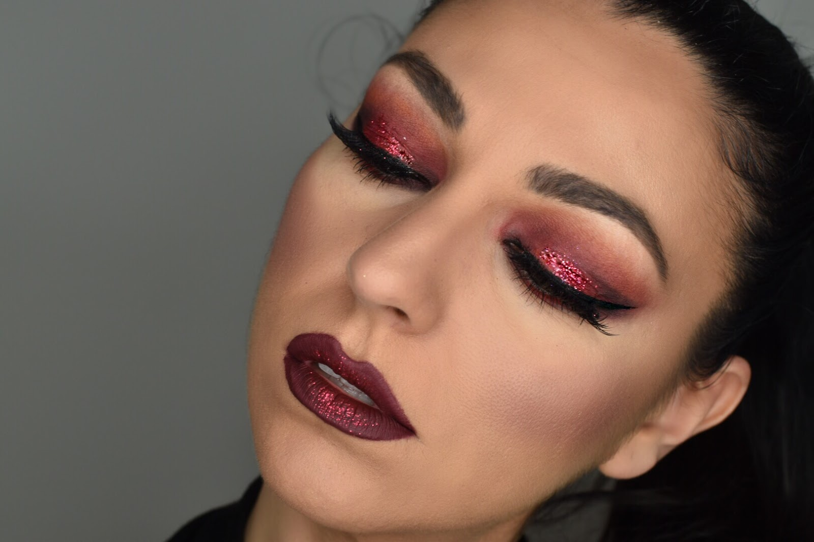 Beautybyemel Fire Red Smokey Eyes Valentines Day Makeup Look