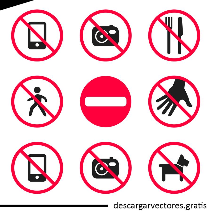 vectores de avisos de uso prohibido