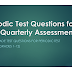 2017-2018 Periodic Test Questions for 2nd Quarterly Assessment with Table of Specifications