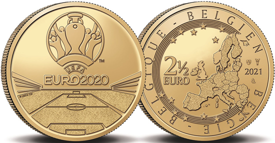 Belgium 2,5 euro 2021 - UEFA Euro 2020