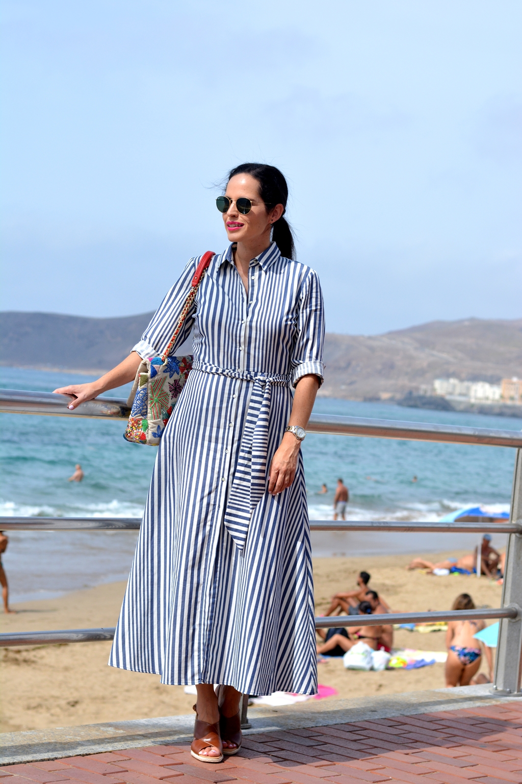 zara-striped-long-dress-outfit-daily-looks