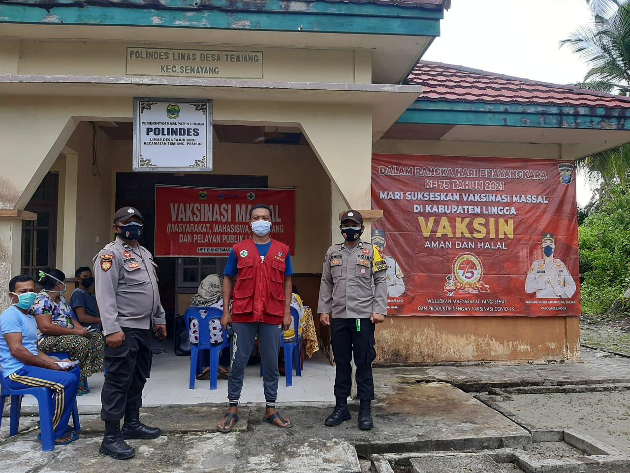 Dalam Rangka HUT Bhayangkara ke 75 Polres Lingga Gelar Vaksinasi Serentak