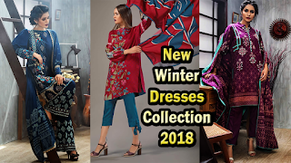 New Winter Fashion Dresses Collection 2018 by Lakhany Silk Mills