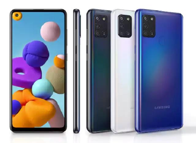 الالون المتوفرة Samsung Galaxy A21s