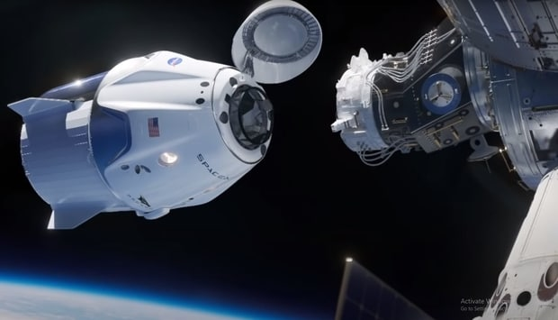 Mission to the International Space Station with crew dragon.