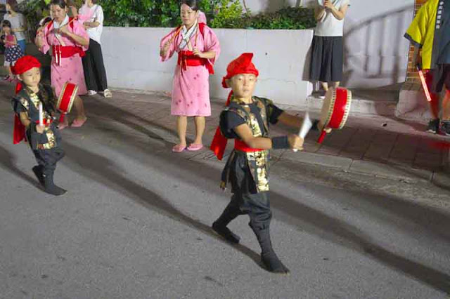 children, dance, drums, Eisa, Obon, Okinawa