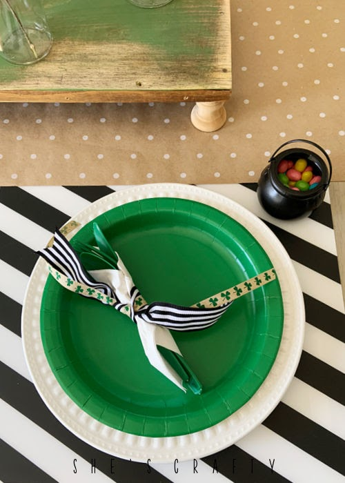 St Patrick's Day Table setting