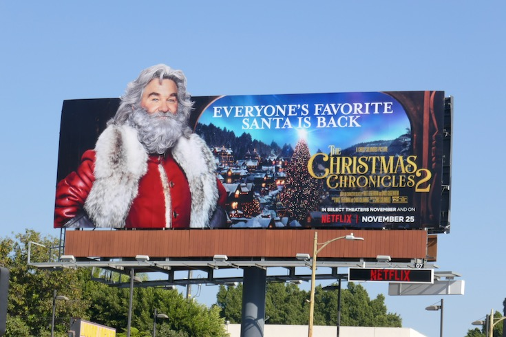 Santa Claus Christmas Chronicles 2 billboard